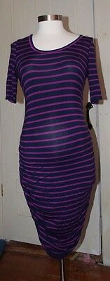 Motherhood Maternity, Size S, Fitted Knit/Jersey Dress, Striped, Short-Sleeves,