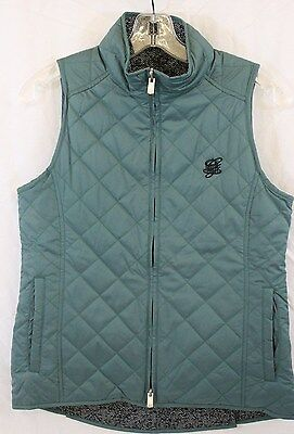 PETER MILLAR Size Small Womens Green Sleeveless Reversible Vest NWT $139.50