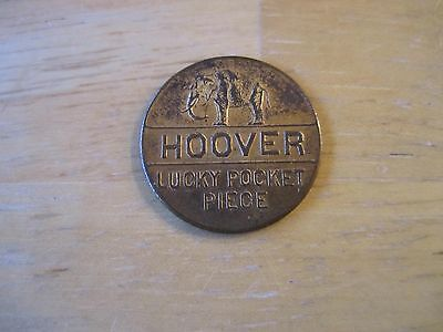 Hoover Lucky Pocket Piece Good for 4 Years of Prosperity Token