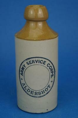Rare WW1 ARMY SERVICE CORPS ALDERSHOT GINGER BEER Stoneware Military BOTTLE