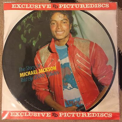 """Michael Jackson *Rare* Picture Disc 12"""" Vinyl Record - Story told by Jerry Cowan"""