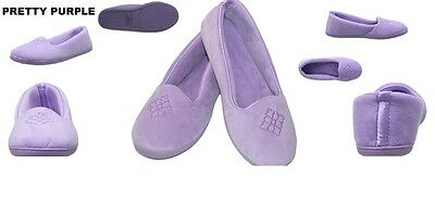 fe5422514fe2 Dearfoams Velour Closed Back Moccasin Slippers Size Small 5-6 New With Tags