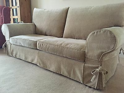 Collins And Hayes : Three Seater mid Beige Sofa.