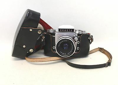 EXACTA VAREX II B SLR 35mm Film Camera With Tessar 2.8/50 Lens & Leather Case