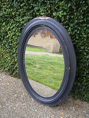 19thC Victorian Original Distressed Beautiful Foxed Oval Mirror Lower Price!