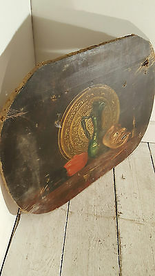 Old Canvas Oil Painting Picture Still Life Prop