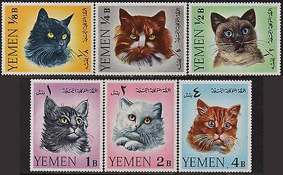 YEMEN 1965 Cats (set of 6) MNH