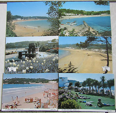 Lot of 6 Postcards of St Brelades Bay, Jersey, Channel Islands
