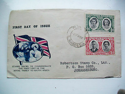 First Day Cover 1947 Royal Family Visit South Africa Pm  Plumtree - Johannesburg