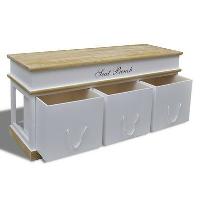 Shoe Storage Bench Seat Unit With Drawers Outdoor Indoor Hallway Bedroom Wooden