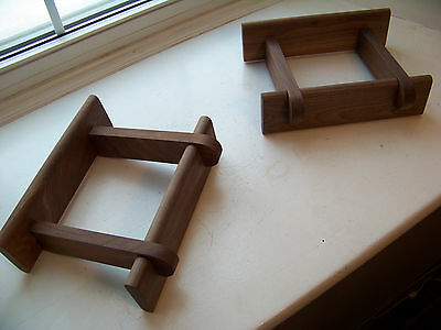 Pair of Walnut Speaker Stands made for Smaller Advent Speakers