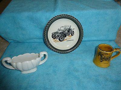 3 pieces of Wade -  miniature Posy Vase, Veteran cars dish and miniature tankard