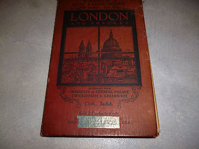 Bacon's Large Print Map of London and Suburbs Cloth 1931