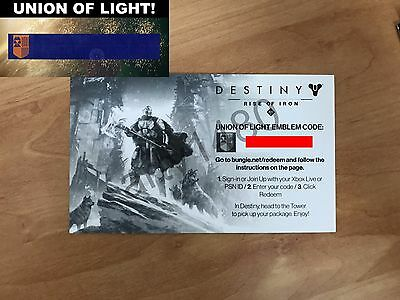 "Destiny exclusive emblem ""Union of Light"" (Works worldwide and PS4/XBOX)"