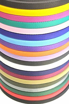 5 Metres 20mm Webbing In 20 Colours,Bags,Straps,Handles,Crafts,Dog Leads Collars