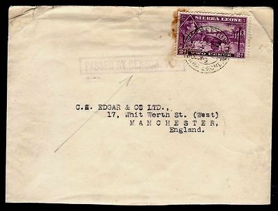 Sierra Leone 1939 Censored S.g. 191 Tied Freetown To