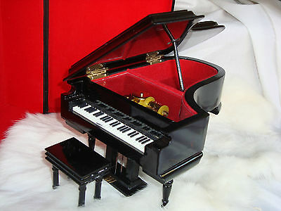 """Grand Piano Music/Jewelry Box 8"""" L Candle in the Wind Brand New Collectible"""