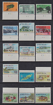 Anguilla 1969 Mint MNH Full Set Definitives Independence opt Flowers Planes Boat