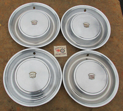 "1973 Cadillac Deville, Fleetwood 15"" Wheel Covers, Hubcaps, Set Of 4"