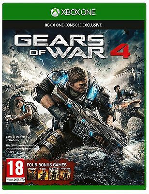 Gears of War 4 Xbox One Brand New Factory Sealed