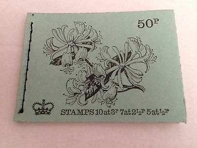 GB 1971 DT3 50p British Flowers Series Stitched Stamp Booklet (AUGUST 1971)