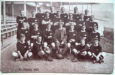 New Zealand Rugby Union Team To Australia 1907 Postcard