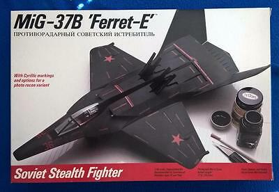 Testors 1/48 Mig-37B and Monogram F-19 Stealth Fighters From 1987- 2 Kits