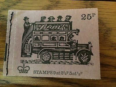 GB 1971 DH42 25p Veteran Transport Series Stitched Stamp Booklet (AUGUST 1971)