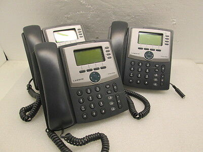 Lot 3 Linksys SPA942 IP Business Phones w/ Handset & Stand READ