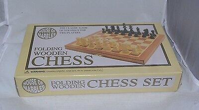 NEW House of Marbles folding wooden chess set