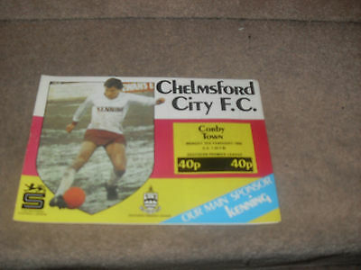 Chelmsford City v Corby Town 3/2/86