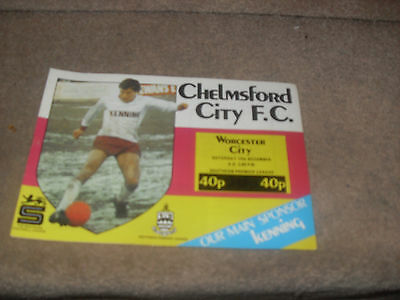 Chelmsford City v Worcester City 14/12/85
