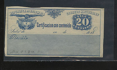 Colombia  Insured  stamp   G11  mint   NH         EX0402