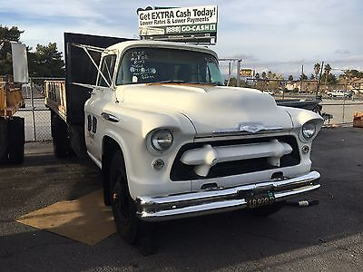 1955 Chevrolet Other Pickups  1955 Chevy 6400 Flatbed Truck with Big Back Window