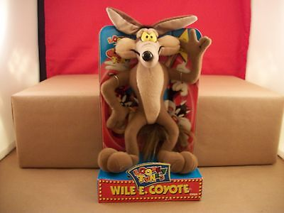 """NEW Wile E. Coyote 1994 Looney Tunes Tyco Vintage Plush 11"""" Doll Toy Road Runner"""