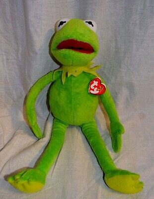 TY Beanie Original Buddy The Muppets Kermit The Frog Beanie Baby NEW