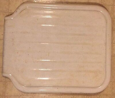 vintage KOHLER Cast Iron White Porcelain Sink Drainboard Counter Top Drain Board
