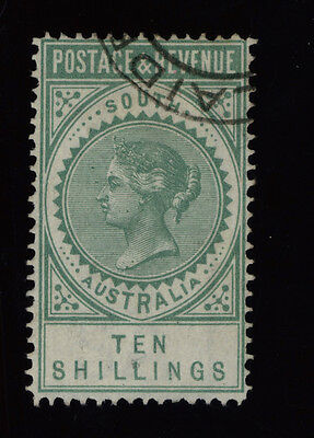 South Australia state stamp - 10/- Green LONG TOM