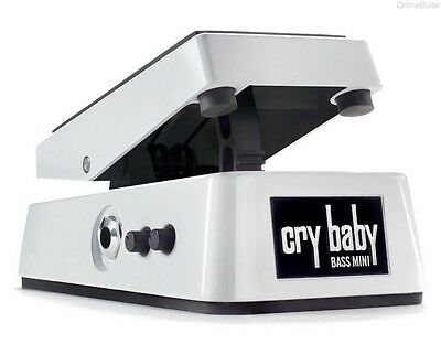 NEW DUNLOP CRY BABY BASS MINI WAH  PEDAL w/ FREE CABLE FREE US SHIPPING