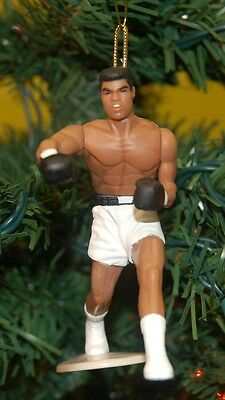 "Muhammad Ali White Shorts Boxing Legend Custom Christmas Tree Ornament 4"" tall"