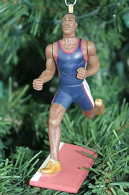 Michael Johnson Olympic Runner Gold Shoes Custom Christmas Tree Ornament