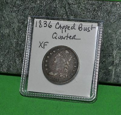 West Point Coins ~ 1836 Capped Bust Quarter $0.25 XF