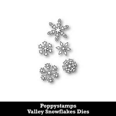 Poppystamps Valley Snowflakes Dies
