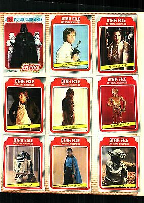 1980 TOPPS Star Wars Empire Strikes Back Series 1Complete Set 132Cards EX TO NM