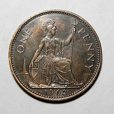 1962 Uk/great Britain Large One Penny Coin!!!!  Very Nice Coin