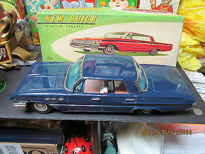 "New Buick Lesabre 1960-61 Friction Tin Car Near Mint In Box 16"" Japan Beautiful"