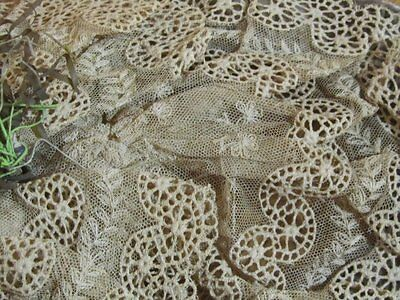 Antique Tambour Net Lace VELVET Hat EARLY French