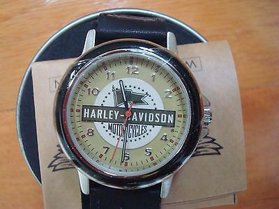 """Harley-Davidson Motorcycles """"wartime Endeavors"""" Timepiece Oil Can Wrist Watch"""