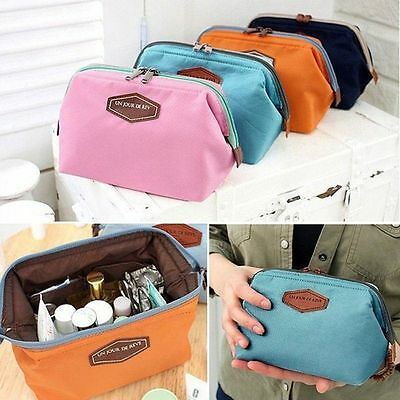 Multifunction Lady Purse Box Makeup Cosmetic Bag Travel Toiletry Case Pouch