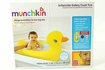 Inflatable Safety Duck Tub Baby Bath Tub by Munchkin NEW